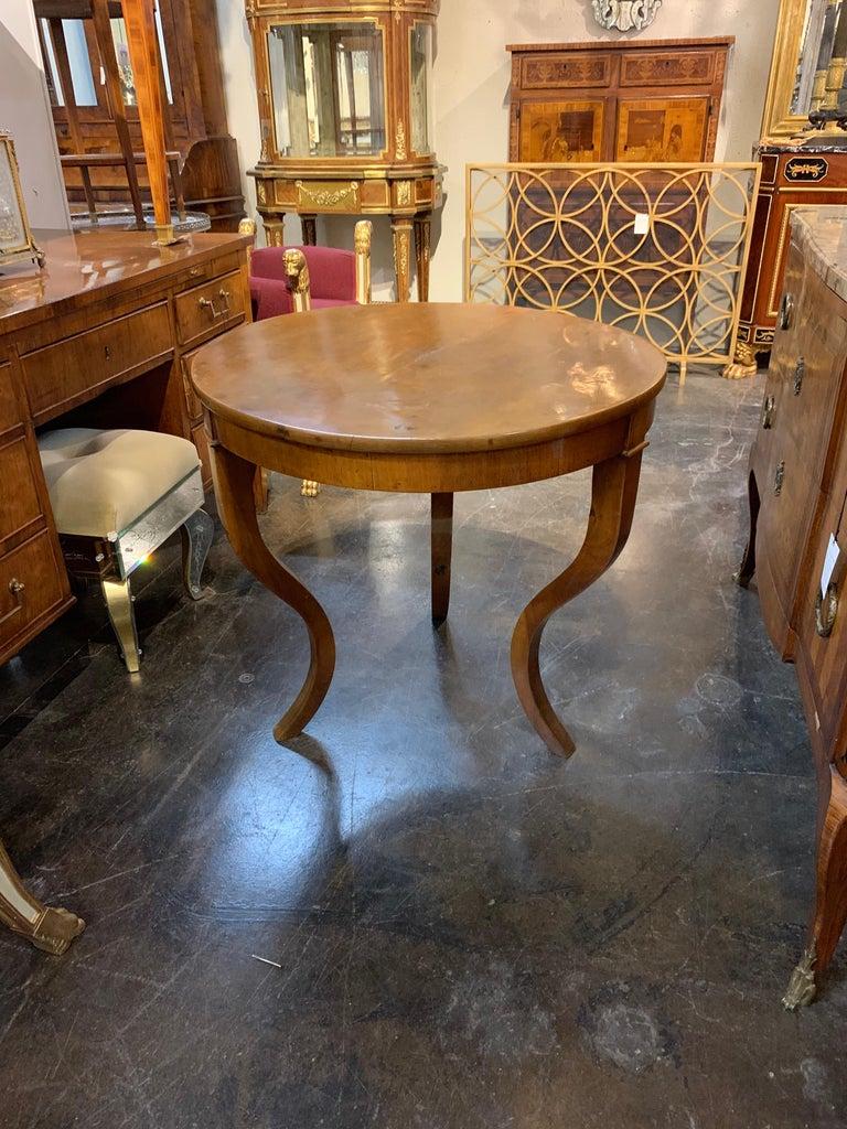 Antique Biedermeier Walnut Table For Sale 1