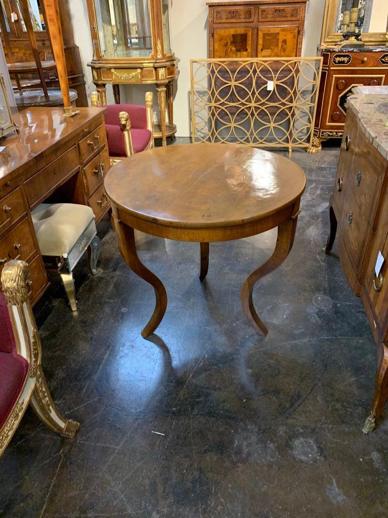 Antique Biedermeier Walnut Table For Sale 2