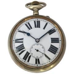 Antique Big/ Goliath Schwob Freres Hand Winding Pocket Watch