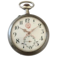Antique Bigger Size Pocket Watch Signed Messaggero