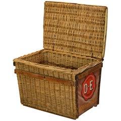 Antique Bike Transport Basket Douwe Egberts Coffee, Early 20th Century, NL