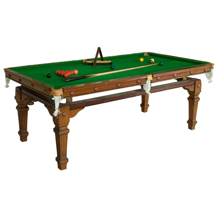 Antique Billiard Snooker Pool Dining Table For Sale At 1stdibs