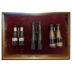 Antique Binocular Set Shadow Box