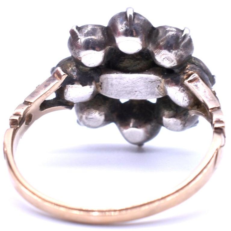 Antique Black Dot Paste Cluster Ring, 1840 For Sale 1