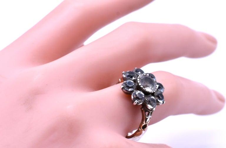 Antique Black Dot Paste Cluster Ring, 1840 For Sale 2