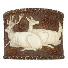 Antique Black Forest Stag Horn Napkin Ring