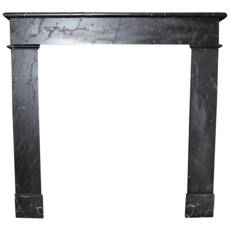 Antique Black Marble Fireplace Mantel 19th Century For Sale At 1stdibs