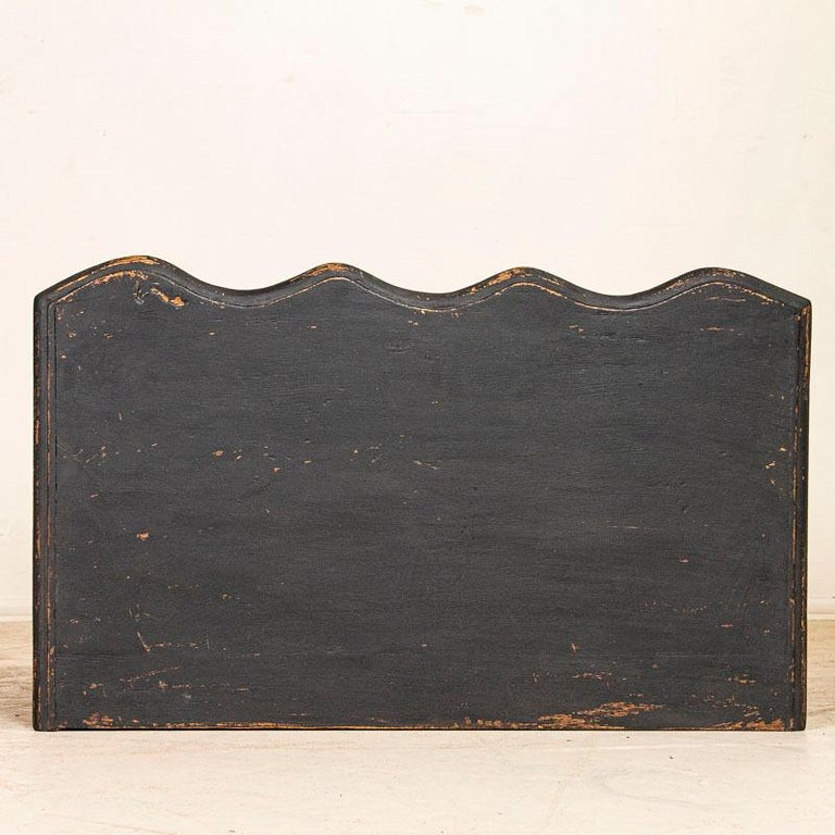 Antique Black Painted Small Chest of Drawers or Nightstand For Sale 2