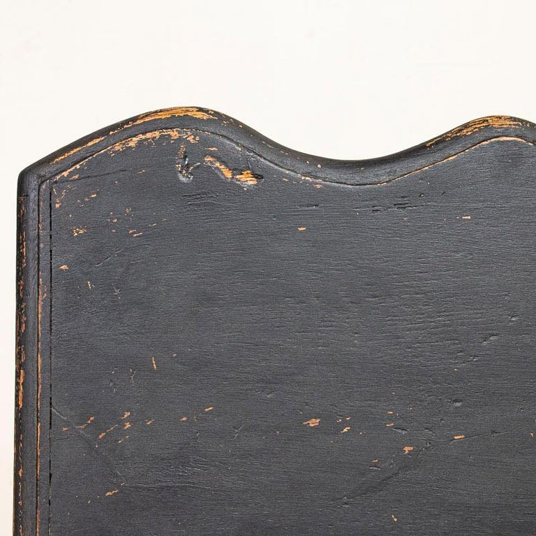 Antique Black Painted Small Chest of Drawers or Nightstand For Sale 3