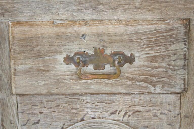 Antique Bleached Oak Buffet For Sale 8