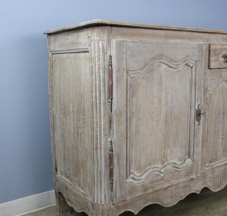 19th Century Antique Bleached Oak Buffet For Sale