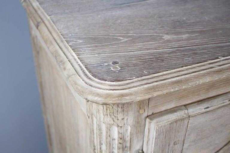 Antique Bleached Oak Buffet For Sale 1