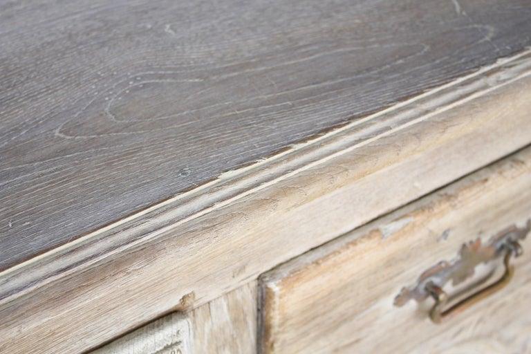 Antique Bleached Oak Buffet For Sale 2