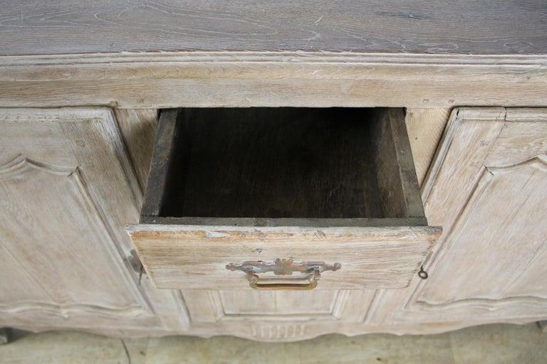 Antique Bleached Oak Buffet For Sale 4