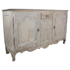 Antique Bleached Oak Buffet