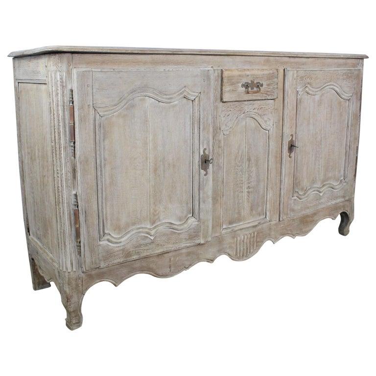 Antique Bleached Oak Buffet For Sale