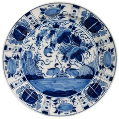 Antique Blue and White Delft Charger