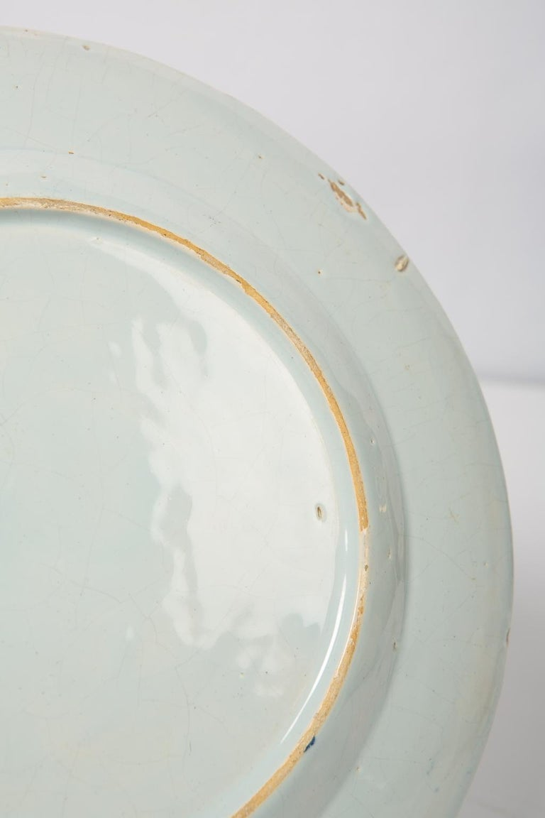 Antique Blue and White Delft Plates a Set of Five 18th Century circa 1750 For Sale 1