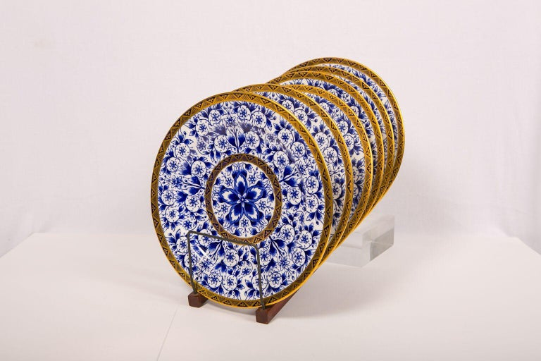 An elaborate Royal Crown Derby dinner service in the