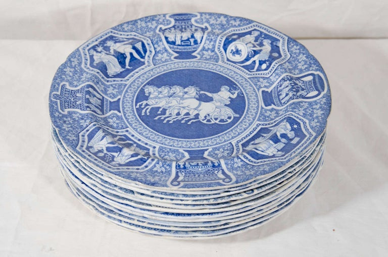 Antique Blue and White Dishes Neoclassical Spode