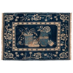 Antique Blue and White Khotan Carpet, c. 1930