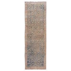 Antique Blue Malayer Handmade Wool Runner