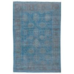 Antique Blue Persian Mahal Carpet