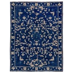 Antique Blue and White Chinese Carpet