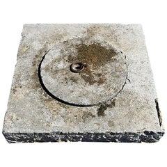 Antique Bluestone Well Cover, 19th Century