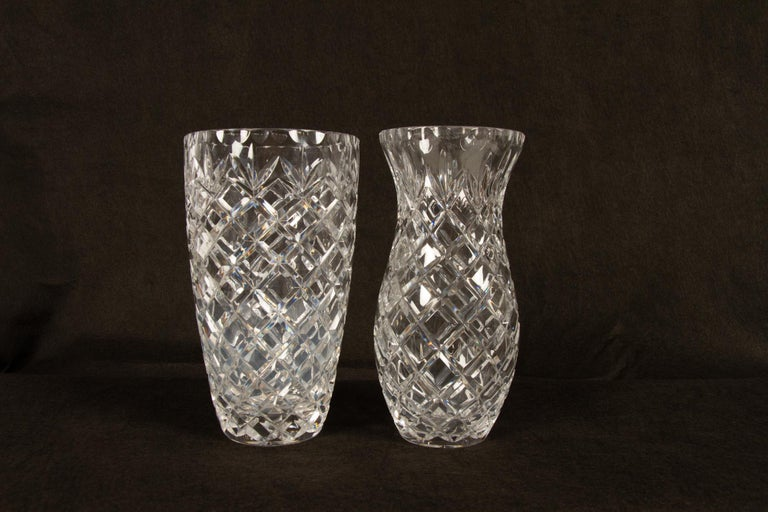 Antique Bohemian Lead Crystal Vases Set of 10 For Sale 1