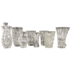Antique Bohemian Lead Crystal Vases Set of 10