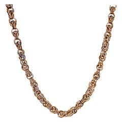 Antique Bolt Gold Clip Chain