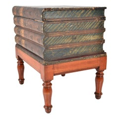 Antique Book Box on Stand, England, 19th Century