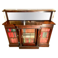 Antique Bookcase, Rosewood, English, circa 1830