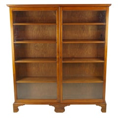 Antique Walnut Bookcase, Victorian, Walnut Bookcase, Scotland, Antiques, B1288