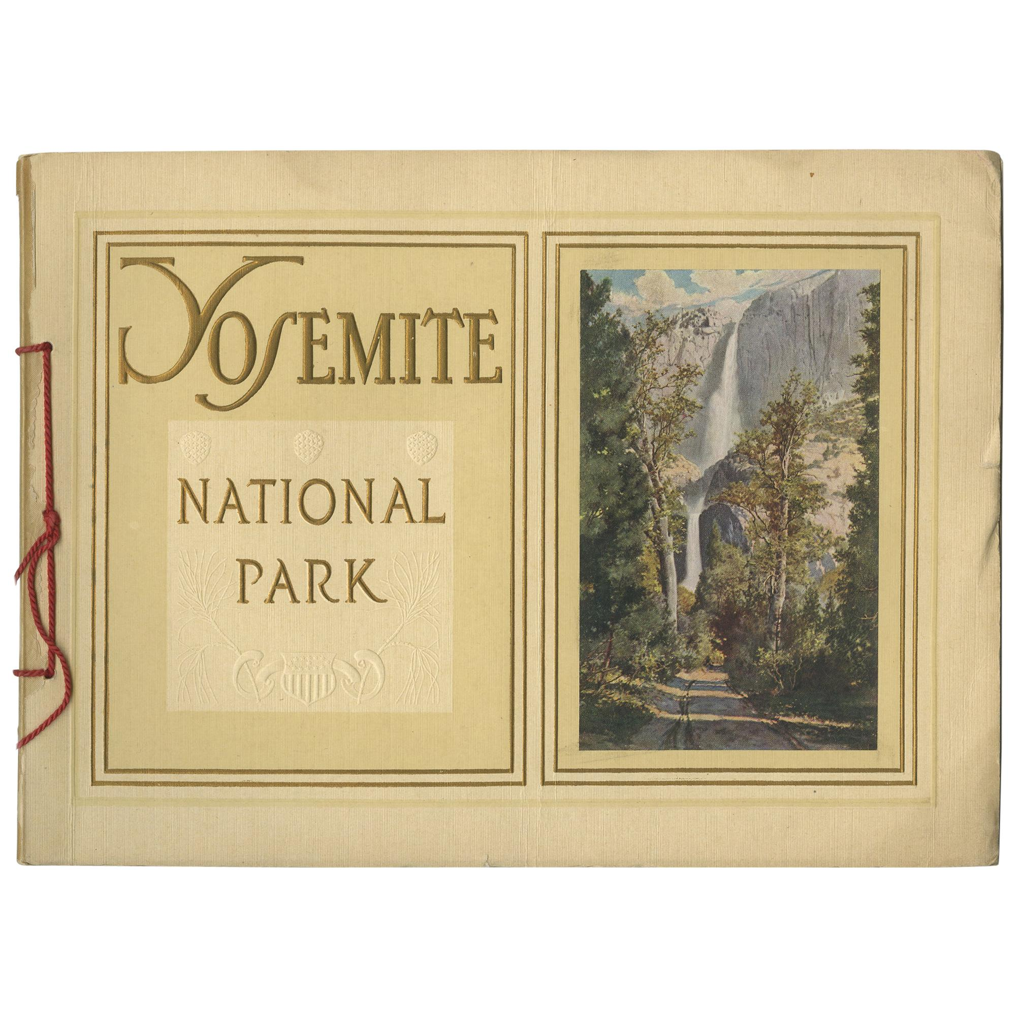 Antique Booklet 'Yosemite National Park' by O.W. Lehmer, 1912