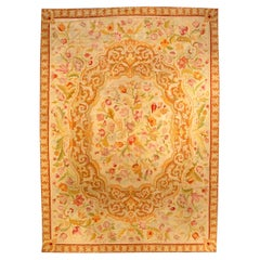 Antique Botanic Needlework Carpet