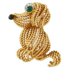 1960s Boucheron Paris Gold Dog Brooch