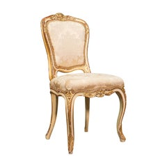 Antique Boudoir Chair, French, Giltwood, Bedroom Dressing Seat, Victorian, 1900