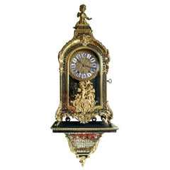 Antique Boulle Wall Clock, 1860