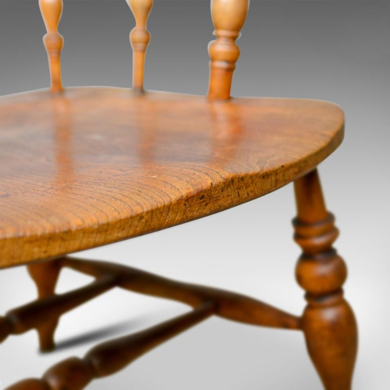 Antique Bow-Back Elbow Chair, English, Victorian, Smokers, Captains, circa 1890 For Sale 4