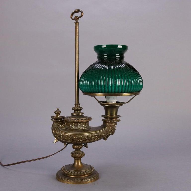 Antique Bradley And Hubbard School Aladdin Style Electric