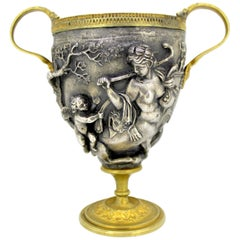 Antique Brass and Silver Plate Trophy, Early 20th Century