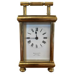 Antique Brass Carriage Clock, 19th Century
