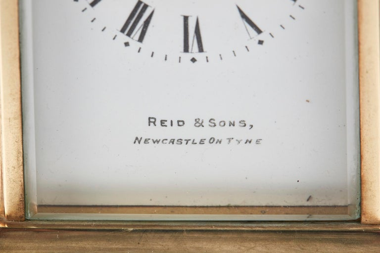 European Antique Brass Carriage Clock For Sale