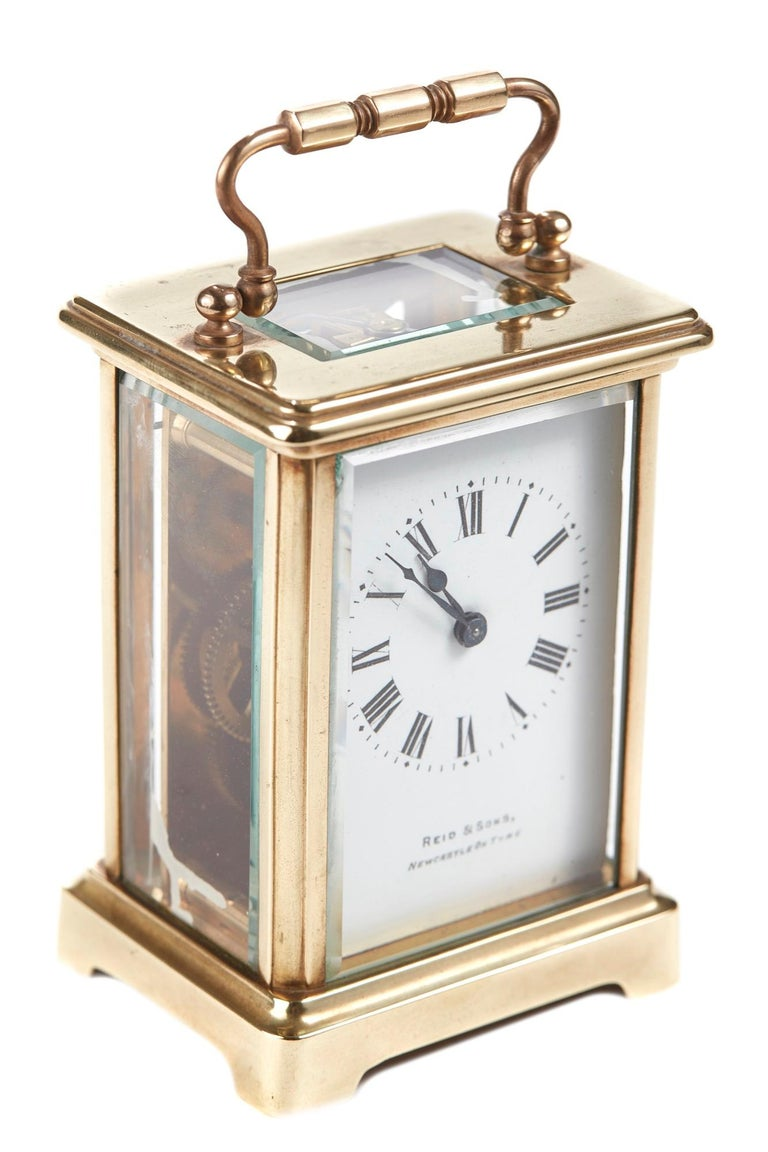 20th Century Antique Brass Carriage Clock For Sale