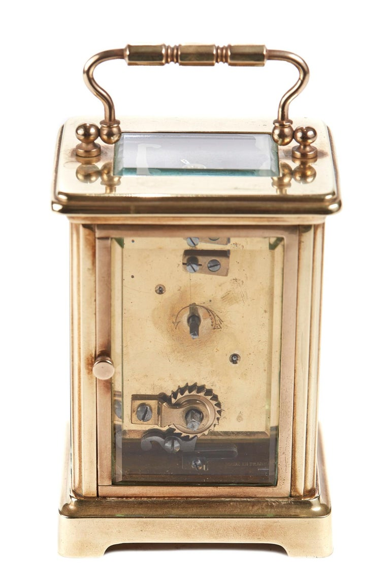 Antique Brass Carriage Clock For Sale 2