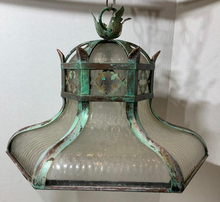 Antique Brass Chandelier For Sale 5