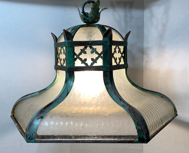 Early 20th Century Antique Brass Chandelier For Sale