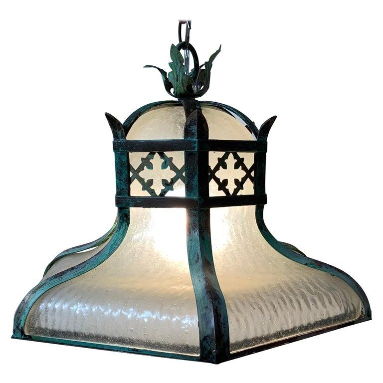 Antique Brass Chandelier For Sale